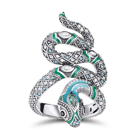 snake ring silver collection
