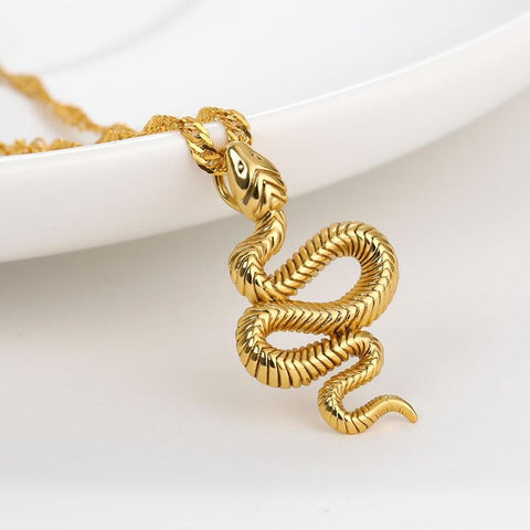 stainless steel snake necklace collection snake vibe