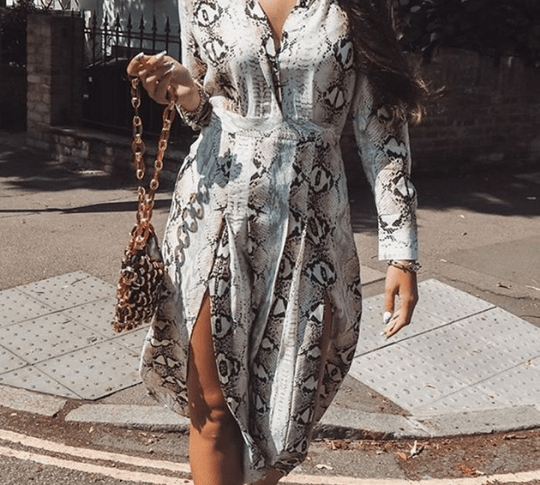 snake print dress and top collection