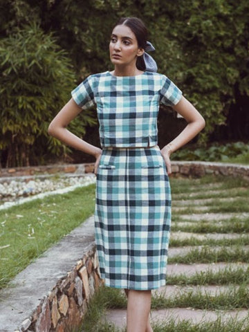 Checkered coord set