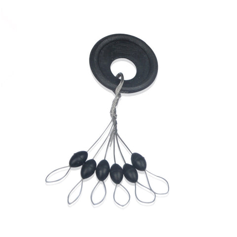 Black Rubber Oval Stopper Float