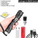 XHP50.2 Rechargeable Powerful Tactical Flashlight