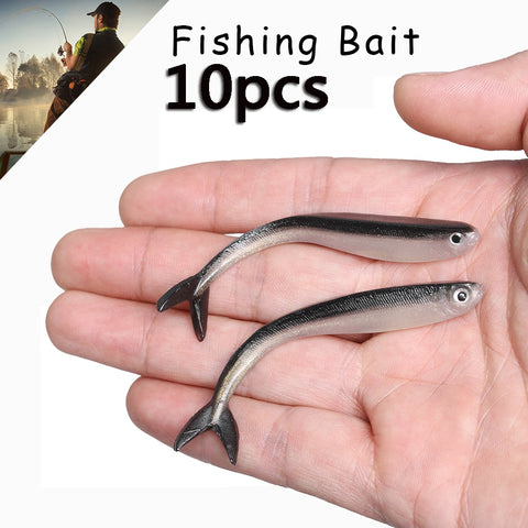 Soft Bait Silver Fish 10pcs