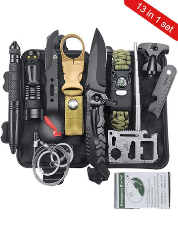 13 in 1 Camping Tools Survival Kit