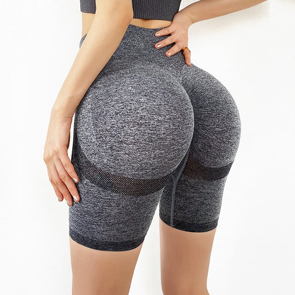 Stretchy Seamless High Waist Biker Shorts