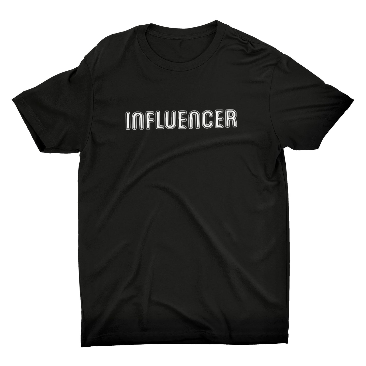 INFLUENCER Black with White Text