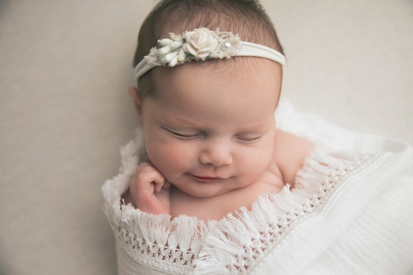 White Fringe Muslin Swaddle Wrap
