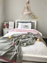 Load image into Gallery viewer, Harlow Knit Pom Pom Blanket