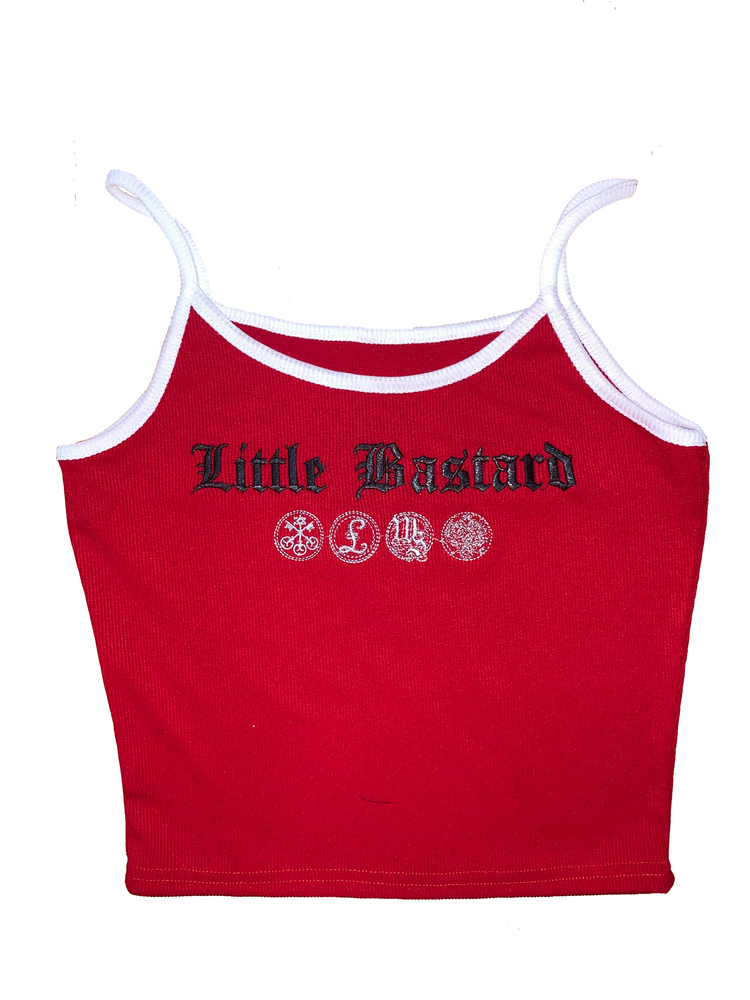 Little Bastard Crop Top - Red