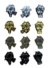Load image into Gallery viewer, The Bastards Gas Mask Pin Set
