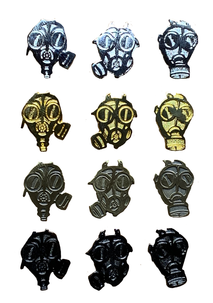 The Bastards Gas Mask Pin Set