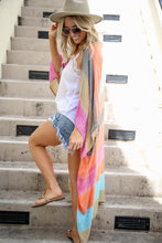 Load image into Gallery viewer, Multicolored Striped Full Sleeve Long Kimono