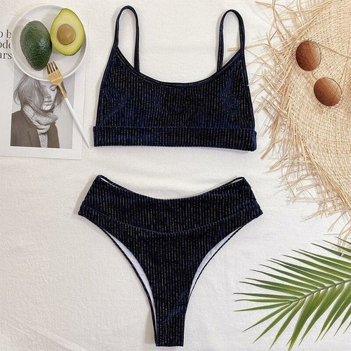Ribbed Velvet Swimsuit