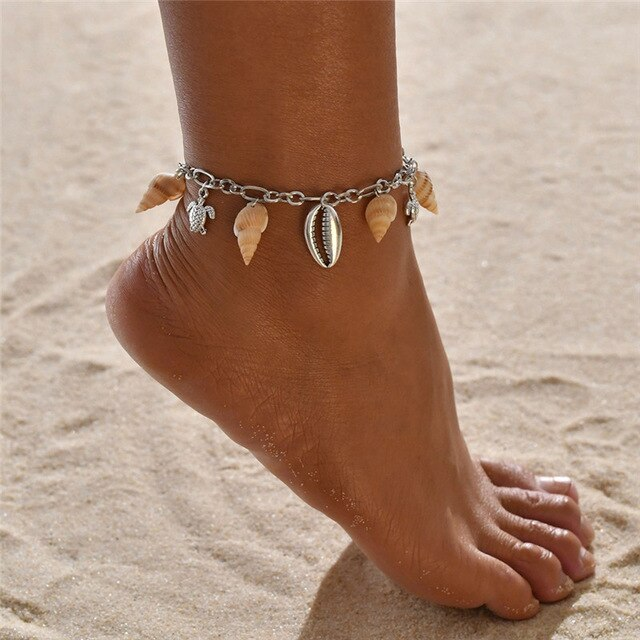 Bohemian Shell Anklets
