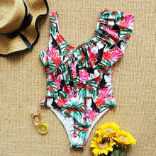 Load image into Gallery viewer, Sexy Ruffle Print Floral One Piece