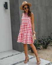 Load image into Gallery viewer, Plaid Dress Classic Black White