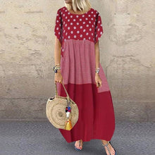 Load image into Gallery viewer, ZANZEA Bohemian Polka Dot Long Dress