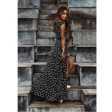 Load image into Gallery viewer, Dots Printed V Neck Dress