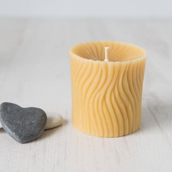 Beeswax Wave Candle