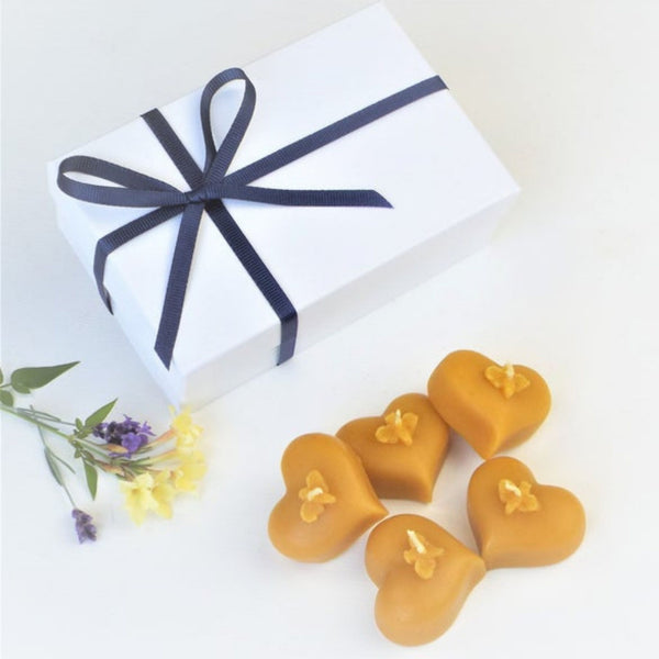 Beeswax Bee Heart Candles