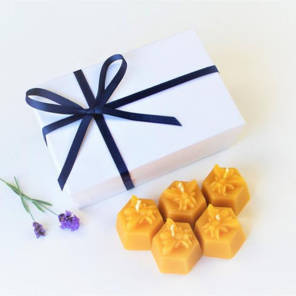 Beeswax Bee Hex Candles