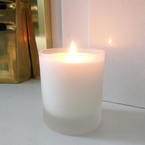 Aromatherapy Candle - Frosted Glass Vessel (various aromas)