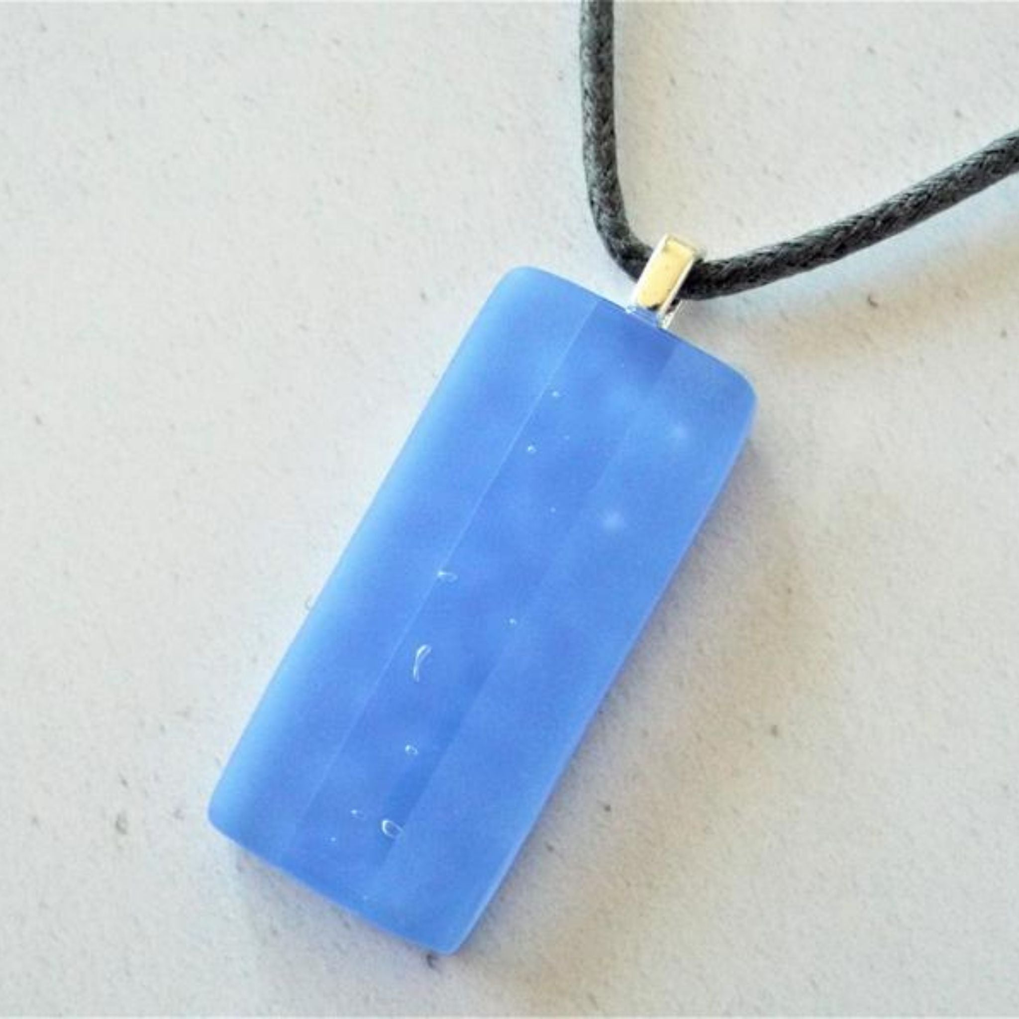 Fused Glass Periwinkle Opal Necklace
