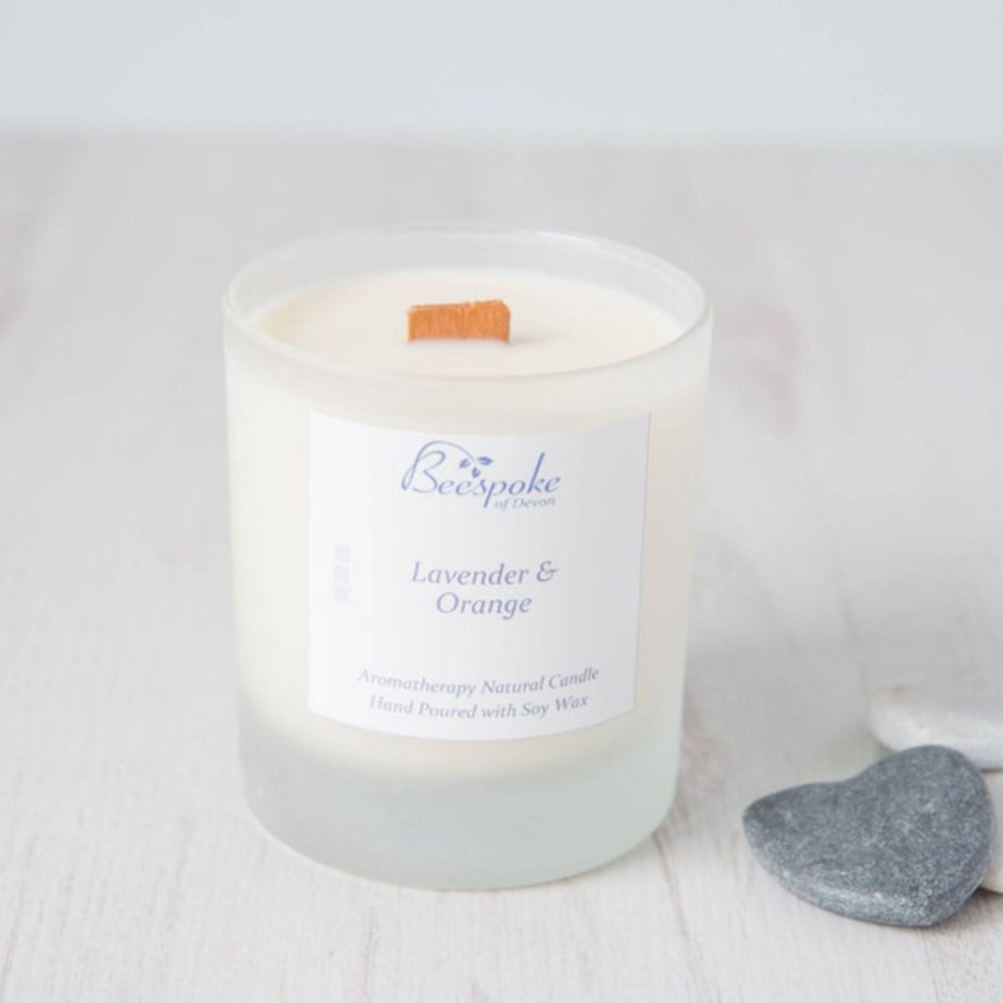 Wood Wick Aromatherapy Candle - Lavender & Orange