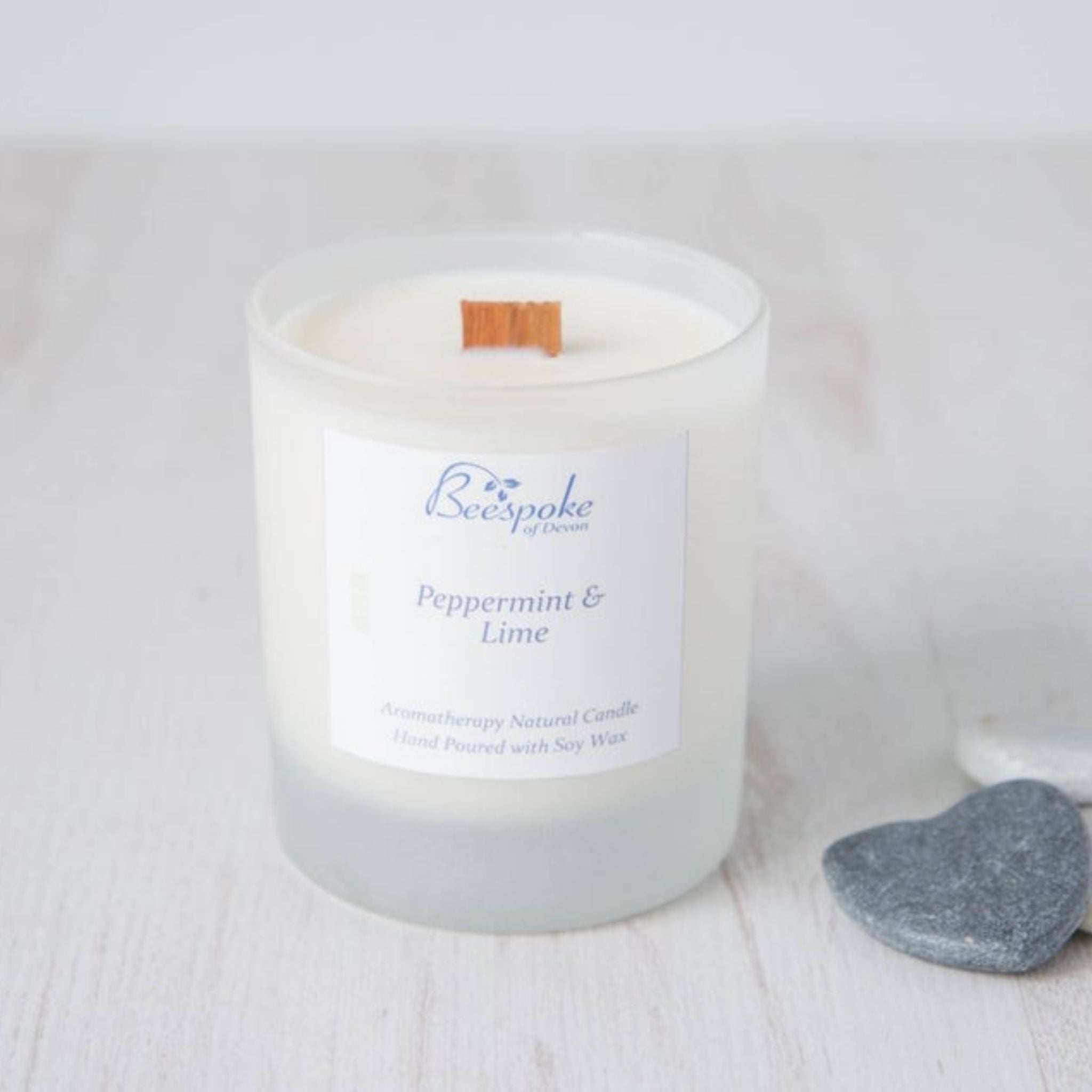 Wood Wick Aromatherapy Candle - Peppermint & Lime