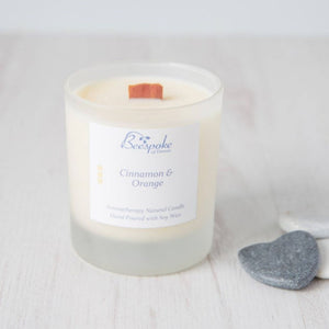 Wood Wick Aromatherapy Candle - Cinnamon & Orange