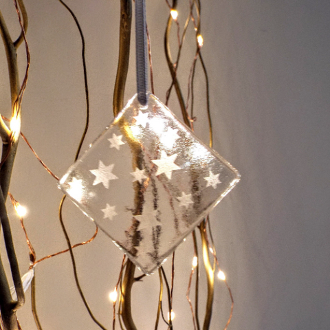 Star Glass Hanging Decoration