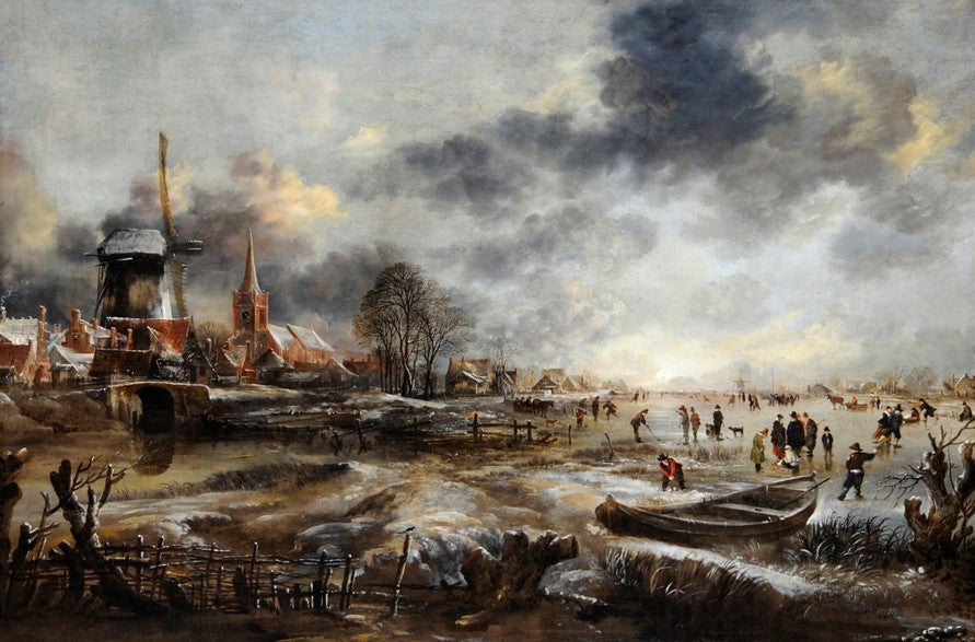 Frozen River Scene