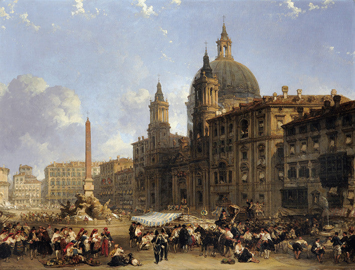 The Piazza Navonna at Rome