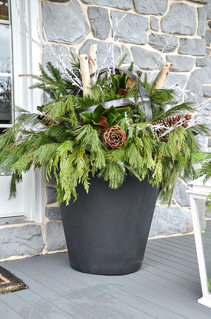HOW TO CREATE YOUR OWN CHRISTMAS PLANTER?