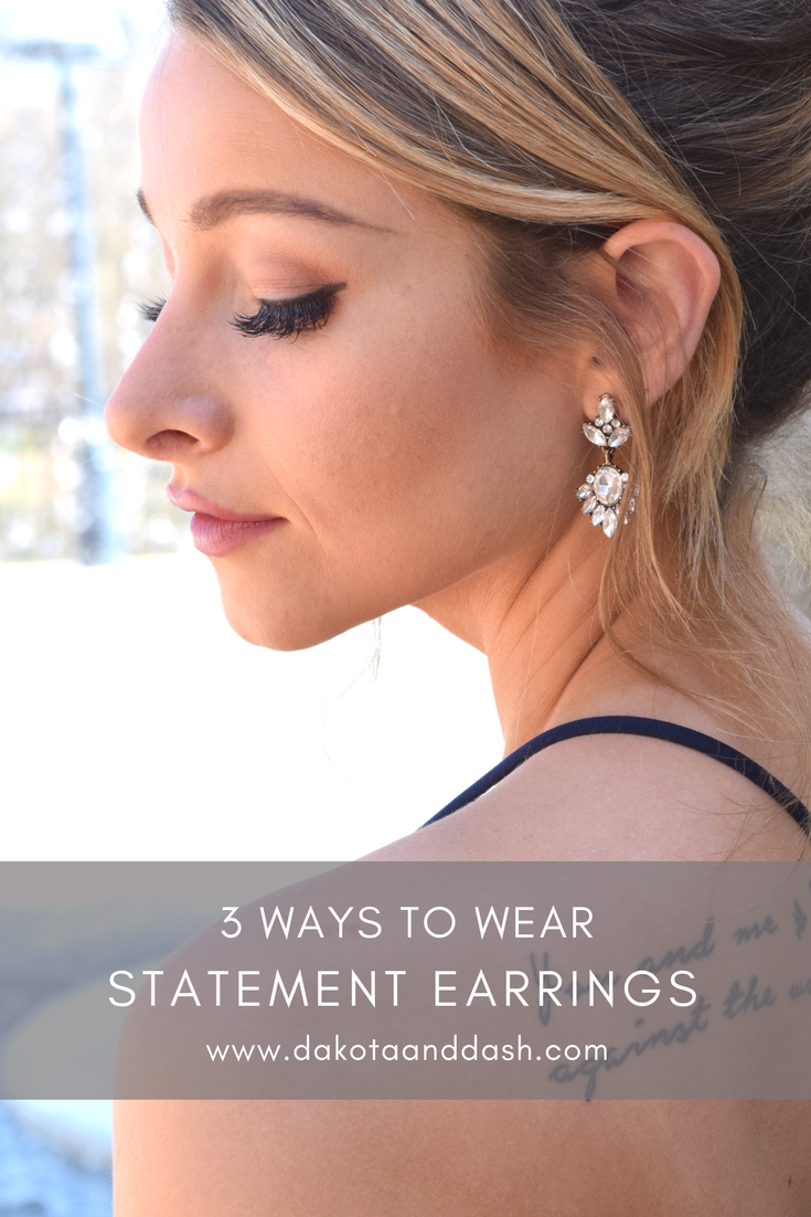 3 Ways to Wear Statement Earrings