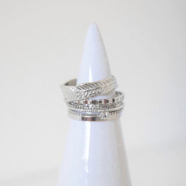 Goddess Ring Stack - Silver