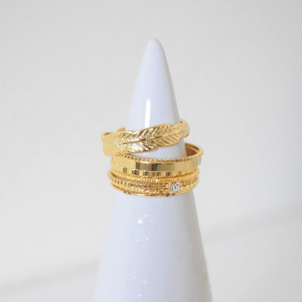Goddess Ring Stack - Gold