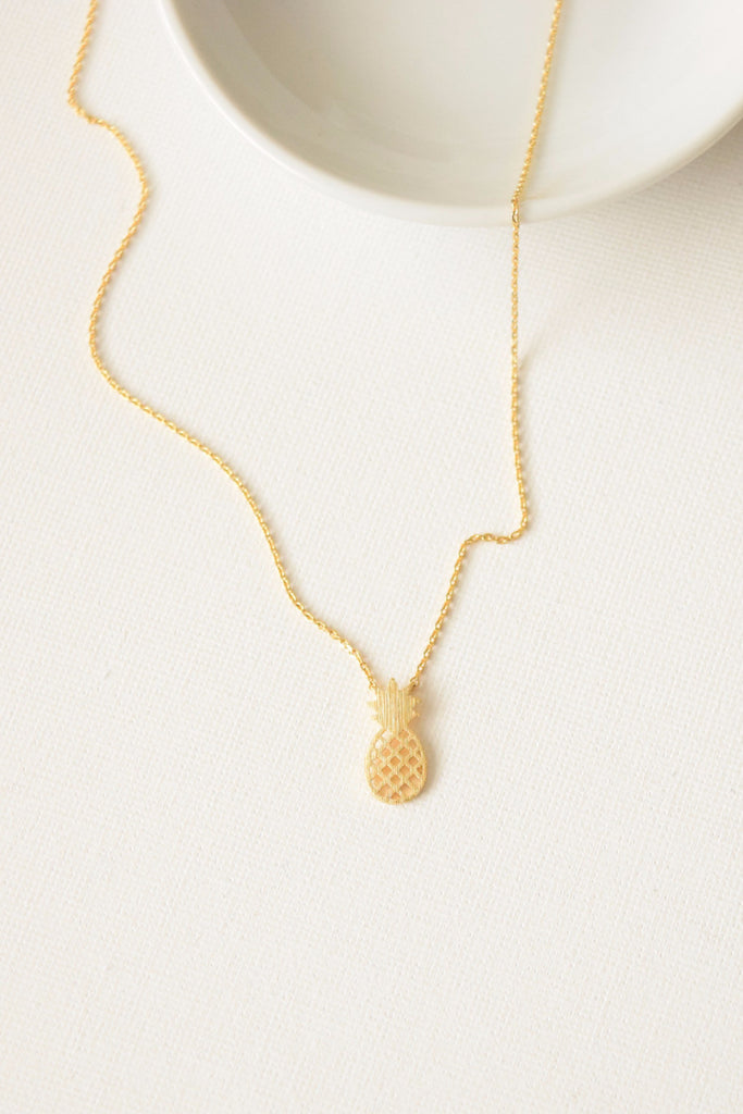 Pineapple Paradise Necklace - Gold