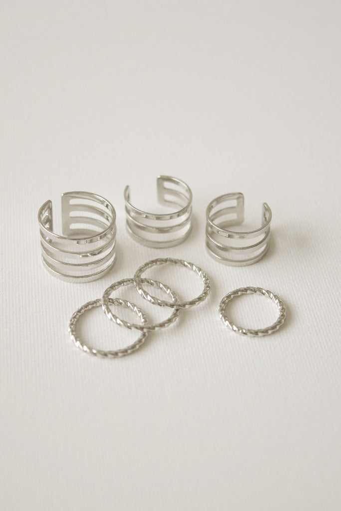 On My Mind Ring Set - Silver