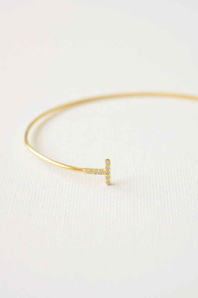 To the T Cuff - Gold