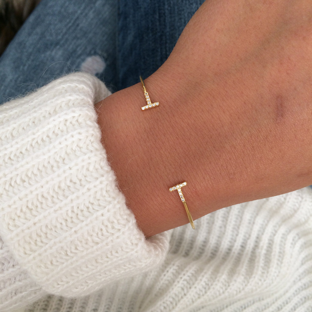 To the T Cuff - Gold - Bracelet - Dakota + Dash Fashion Jewelry & Accessories