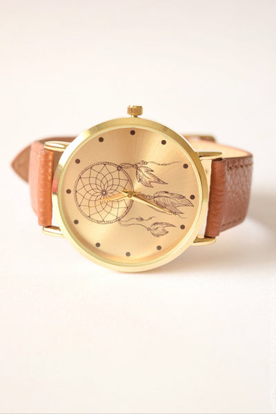 Dreamcatcher Watch - Tan
