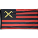 Load image into Gallery viewer, Spikes And Stripes Flag - 3ft X 5ft