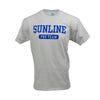 Sunline Pro Staff design on a grey cotton short sleeve T-Shirt