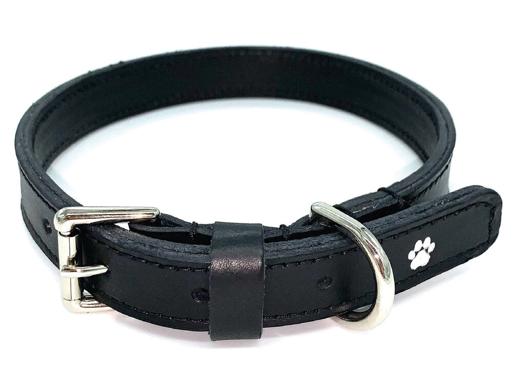 Personalised Dog Collar and Lead Set - Black