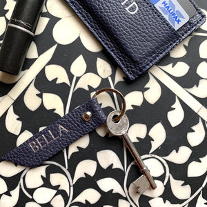 Alice Key Ring - Navy