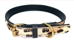 Dog Collar and Lead Set -  Leopard/ Black