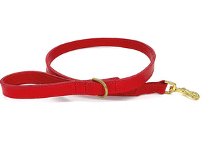 Personalised Dog Collar and Lead Set - Red