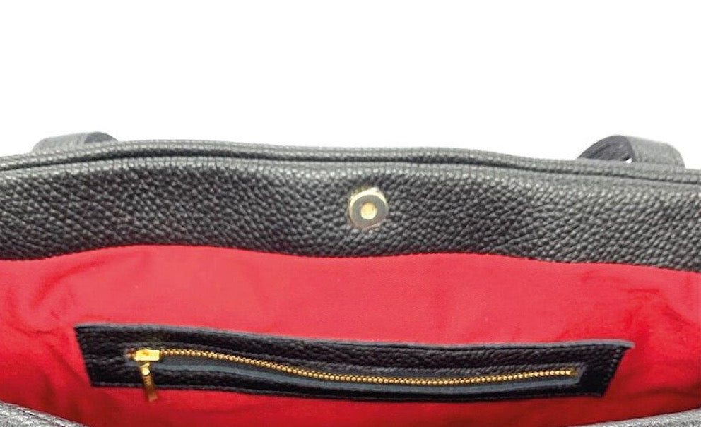 Penelope Tote - Black/ Red