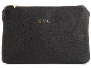 Grace Clutch Bag - Black/ Red